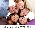 group of friends with their... | Shutterstock . vector #33721819
