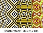 set of 3 abstract patterns.... | Shutterstock .eps vector #337219181
