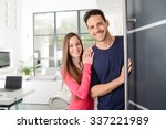 happy young couple at new house ... | Shutterstock . vector #337221989