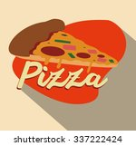 food concept with pizza... | Shutterstock .eps vector #337222424