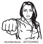 woman punching    Shutterstock .eps vector #337224401