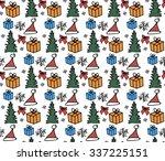 seamless texture for christmas...   Shutterstock .eps vector #337225151