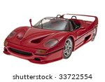 sports car toy with clipping... | Shutterstock . vector #33722554