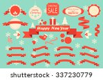 christmas decoration vector... | Shutterstock .eps vector #337230779