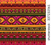 bright acid colored ethnic... | Shutterstock .eps vector #337232561