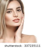 beautiful woman face portrait... | Shutterstock . vector #337235111