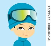 vector ski boy | Shutterstock .eps vector #33723736