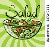 vector salad with calligraphic... | Shutterstock .eps vector #337247831