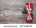 christmas table place setting.... | Shutterstock . vector #337248059