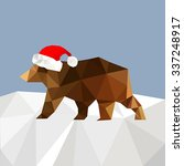 christmas background with bear... | Shutterstock .eps vector #337248917