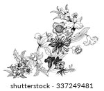summer garden blooming flowers... | Shutterstock . vector #337249481