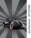 black classic convertible ... | Shutterstock .eps vector #33725080