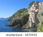 riomaggiore village on the top... | Shutterstock . vector #3372515