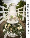 elegant wedding cake with sugar ... | Shutterstock . vector #337251731