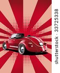 red classic convertible  retro... | Shutterstock .eps vector #33725338