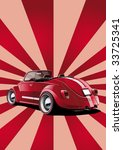 red classic convertible  retro... | Shutterstock .eps vector #33725341