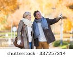 active seniors on a walk in... | Shutterstock . vector #337257314