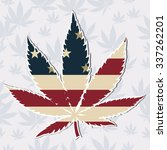 marijuana leaf with the usa... | Shutterstock .eps vector #337262201