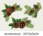 vector collection of christmas... | Shutterstock .eps vector #337265624