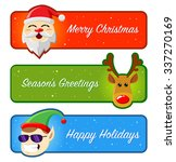 happy holidays and merry... | Shutterstock .eps vector #337270169