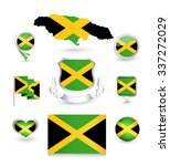 jamaica flag collection. vector ... | Shutterstock .eps vector #337272029