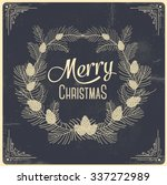 merry christmas  greeting... | Shutterstock .eps vector #337272989