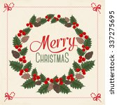christmas greeting card | Shutterstock .eps vector #337275695