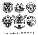 set of soccer football crests... | Shutterstock .eps vector #337279511