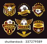 set of soccer football crests... | Shutterstock .eps vector #337279589