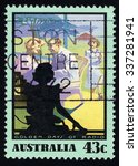 australia   circa 1991  a stamp ...   Shutterstock . vector #337281941