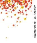 falling leaves | Shutterstock .eps vector #33728509