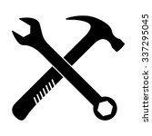 crossed wrench and hammer...   Shutterstock .eps vector #337295045