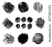 artistic vector set of pencil... | Shutterstock .eps vector #337301441