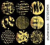 set of festive circles. hand... | Shutterstock .eps vector #337303904