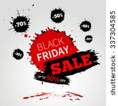 black friday sale poster for... | Shutterstock .eps vector #337304585