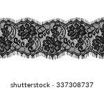 black lace on white background | Shutterstock . vector #337308737