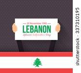 lebanese republic national... | Shutterstock .eps vector #337310195