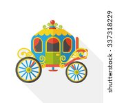horse carriage flat icon | Shutterstock .eps vector #337318229