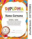 preschool kids diploma... | Shutterstock .eps vector #337320881