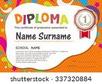 preschool kids diploma... | Shutterstock .eps vector #337320884