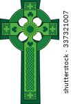 Green Decorated Celtic Cross...