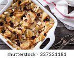 bread pudding breakfast... | Shutterstock . vector #337321181