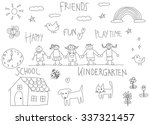 children doodle drawing of a... | Shutterstock .eps vector #337321457