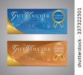 gift voucher template | Shutterstock .eps vector #337322501