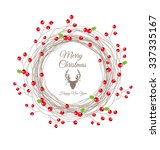 Red Berry Christmas Wreath For...