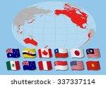 trans pacific partnership ... | Shutterstock .eps vector #337337114