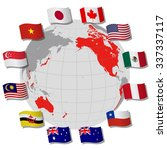 trans pacific partnership ... | Shutterstock .eps vector #337337117