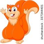 cute cartoon squirrel of... | Shutterstock .eps vector #337344401