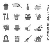 cleaning icons | Shutterstock .eps vector #337347419