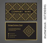 luxury vintage business card.... | Shutterstock .eps vector #337350341